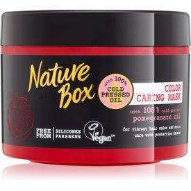 Nature Box Pomegranate vyživujúca a hydratačná maska na vlasy na ochranu farby 200 ml