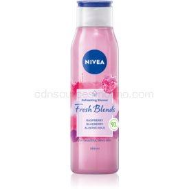 Nivea Fresh Blends Raspberry & Blueberry & Almond Milk osviežujúci sprchový gél 300 ml