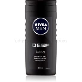 Nivea Men Deep sprchový gél na tvár, telo a vlasy 250 ml