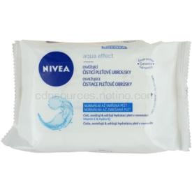 Nivea Aqua Effect osviežujúce čistiace pleťové obrúsky pre normálnu až zmiešanú pleť 25 ks
