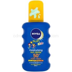 Nivea Sun Kids detský farebný sprej na opaľovanie SPF 50+ 200 ml