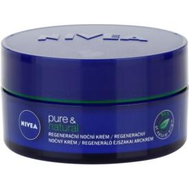 Nivea Visage Pure & Natural regeneračný nočný krém pre všetky typy pleti 50 ml