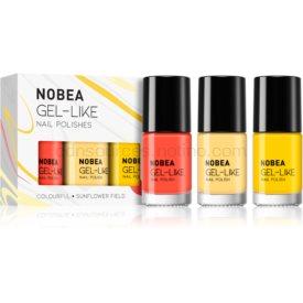 NOBEA Colourful sada lakov na nechty odtieň Sunflower Field 3 x 6 ml