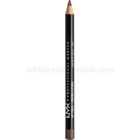 NYX Professional Makeup Slim Lip Pencil ceruzka na pery odtieň 853 Brown Black 1 g