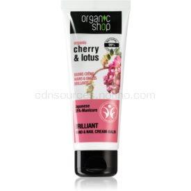 Organic Shop Organic Cherry & Lotus posilňujúci balzám na ruky a nechty 75 ml