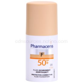 Pharmaceris F-Fluid Foundation ochranný krycí make-up SPF 50+ odtieň 01 Ivory 30 ml