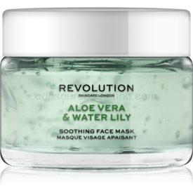 Revolution Skincare Aloe Vera & Water Lily upokojujúca pleťová maska 50 ml