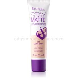 Rimmel Stay Matte penový make-up odtieň 091 Light Ivory 30 ml