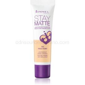 Rimmel Stay Matte penový make-up odtieň 103 True Ivory 30 ml