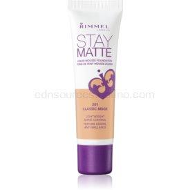 Rimmel Stay Matte penový make-up odtieň 201 Classic Beige 30 ml