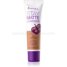 Rimmel Stay Matte penový make-up odtieň 303 True Nude 30 ml
