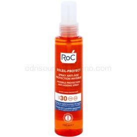 RoC Soleil Protect transparentný ochranný sprej proti starnutiu pokožky SPF 30 150 ml
