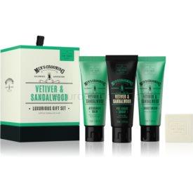 Scottish Fine Soaps Men's Grooming Vetiver & Sandalwood kozmetická sada V. pre mužov