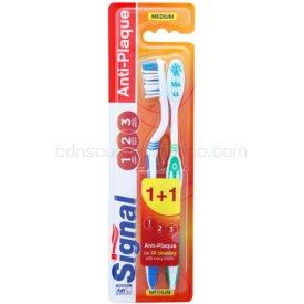 Signal Anti-Plaque zubné kefky medium 2 ks cap