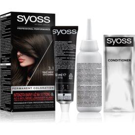 Syoss Permanent Coloration permanentná farba na vlasy odtieň 3-1 Dark Brown