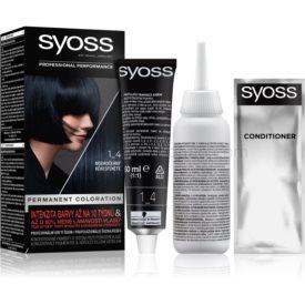 Syoss Permanent Coloration permanentná farba na vlasy odtieň 1-4 Blue Black