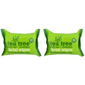 Tea Tree Facial Wipes čistiace utierky na tvár 2× 25 ks