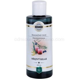 Topvet Professional masážny olej - hrejivý relax 200 ml
