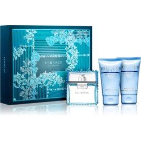 Versace Man Eau Fraîche darčeková sada XXIX. sprchový a kúpeľový gél 50 ml + balzam po holení 50 ml + toaletná voda 50 ml