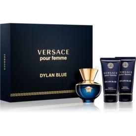 Versace Dylan Blue Pour Femme darčeková sada I. sprchový a kúpeľový gél 50 ml + telové mlieko 50 ml + parfém 50 ml