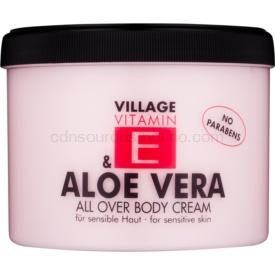 Village Vitamin E Aloe Vera telový krém 500 ml