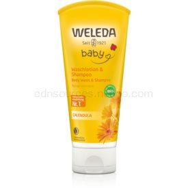 Weleda Baby and Child šampón a sprchový gél pre deti nechtík 200 ml