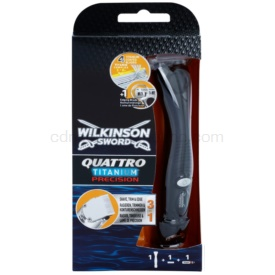 Wilkinson Sword Quattro Titanium Precision zastrihávač a holiaci strojček pre mokré holenie