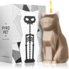 54 Celsius PyroPet KISA (Cat) Kerze 17 cm Grey