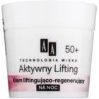 AA Cosmetics Age Technology Active Lifting αναγεννητική συσφικτική κρέμα νύχτας 50+