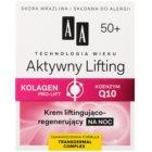 AA Cosmetics Age Technology Active Lifting нощен регенериращ стягащ крем  50+