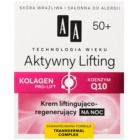 AA Cosmetics Age Technology Active Lifting Festigende regenerierende Nachtcreme 50+