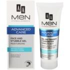 AA Cosmetics Men Advanced Care Hydraterende en kalmerende gel voor Gezicht en Baard