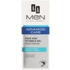 AA Cosmetics Men Advanced Care gel hidratant cu efect de calmare pentru fata si barba