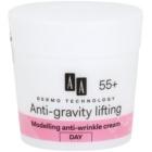 AA Cosmetics Dermo Technology Anti-Gravity Lifting creme de modelagem com efeito antirrugas 55+