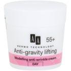AA Cosmetics Dermo Technology Anti-Gravity Lifting modellező krém a ráncok ellen 55+