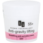AA Cosmetics Dermo Technology Anti-Gravity Lifting modellierende Creme mit Antifalten-Wirkung 55+
