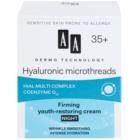 AA Cosmetics Dermo Technology Hyaluronic Microthreads  fiatalító és simító éjszakai krém 35+