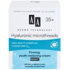 AA Cosmetics Dermo Technology Hyaluronic Microthreads  Rejuvenating and Smoothening Night Cream 35+