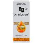 AA Cosmetics Oil Infusion2 Argan Marula 30+ Augencreme gegen Falten mit feuchtigkeitsspendender Wirkung