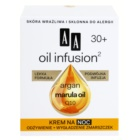 AA Cosmetics Oil Infusion2 Argan Marula 30+ Night Nourishing Cream with Anti-Ageing Effect