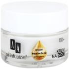 AA Cosmetics Oil Infusion2 Argan Inca Inchi 50+ αναγεννητηκή κρέμα νύχτας με αποτελεσματικότητα αναδιαμόρφωσης