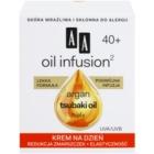 AA Cosmetics Oil Infusion2 Argan Tsubaki 40+ Dagcrème voor vernieuwing van de stevigheid  met Anti-Rimpel Werking