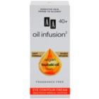 AA Cosmetics Oil Infusion2 Argan Tsubaki 40+ crema occhi nutriente riduttrice di rughe