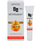 AA Cosmetics Oil Infusion2 Argan Tsubaki 40+ tápláló szemkörnyéki krém a ráncok ellen