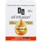AA Cosmetics Oil Infusion2 Argan Tsubaki 40+ crema regeneratoare de noapte cu efect antirid