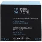 Academie Derm Acte Intense Age Recovery crema de noapte pentru contur cu efect exfoliant