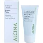 Alcina For Oily Skin Kräutermaske gegen ein glänzendes Gesicht und erweiterte Poren