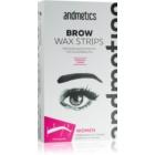 andmetics Wax Strips bandes de cire pour épilation sourcils