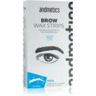 andmetics Brows Wachs-Enthaarungsbänder für die Augenbrauen