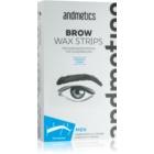 andmetics Wax Strips benzi depilatoare cu ceară, pentru sprâncenele bărbaților
